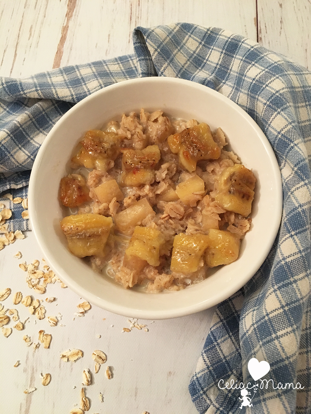 gluten free oatmeal - banana apple