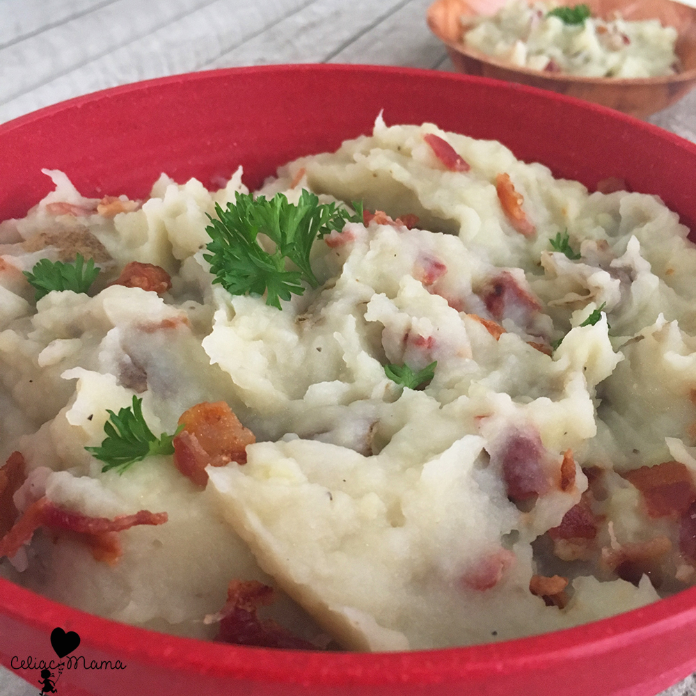dairy free mashed potatoes with bacon