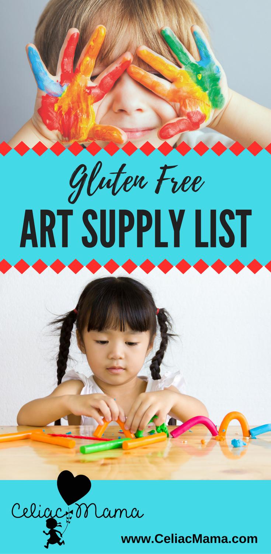 gluten free art supply list