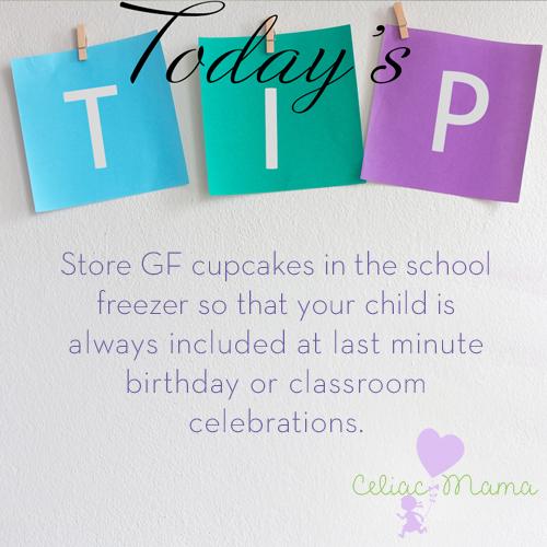 gf cupcakes school tip