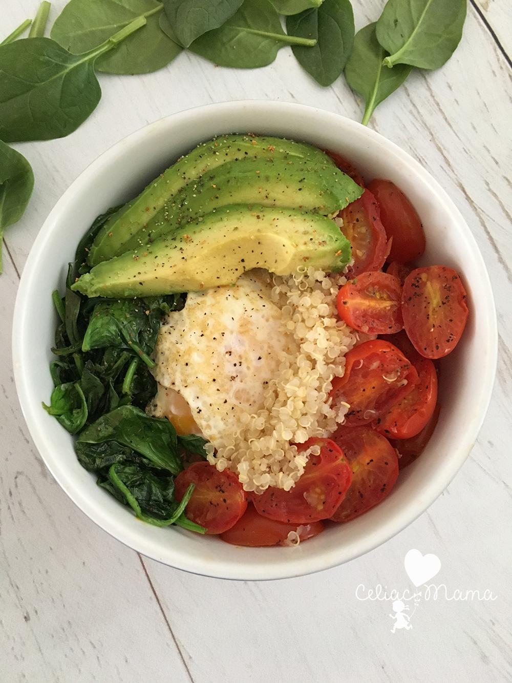 gluten free protein breakfast bowl