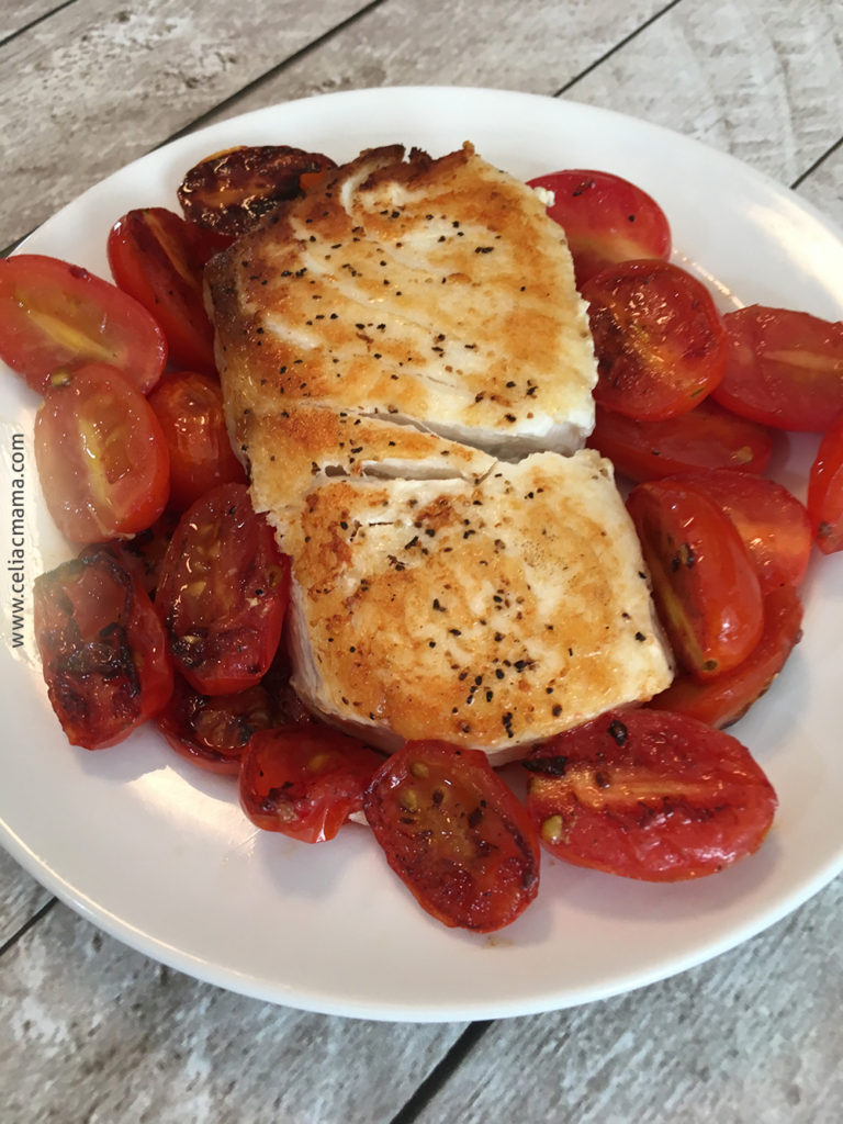 halibut with tomato balsamic glaze