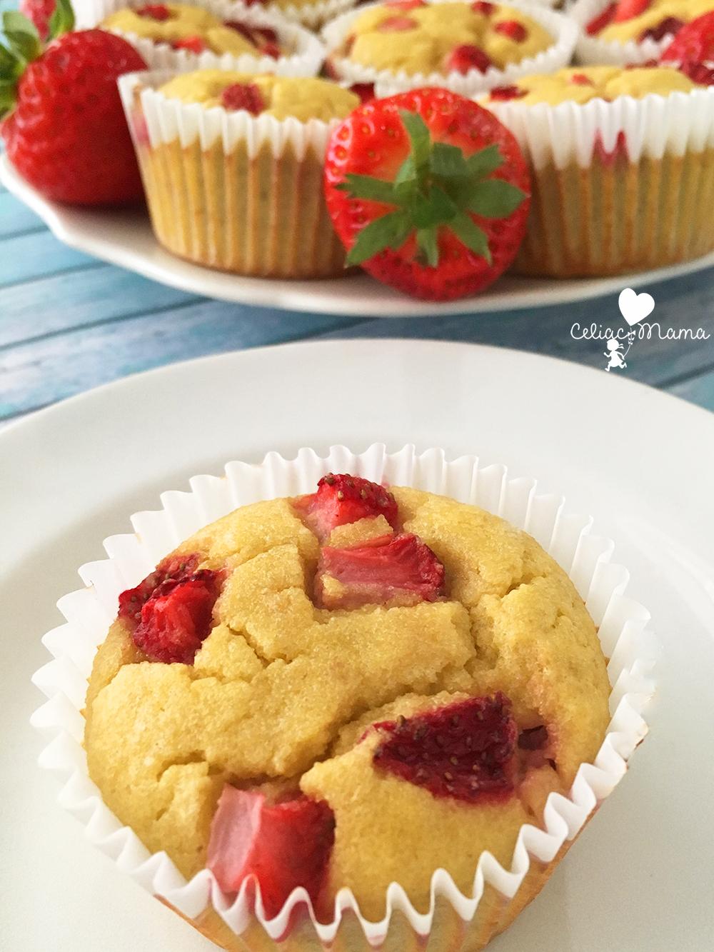 gluten free strawberry banana muffins
