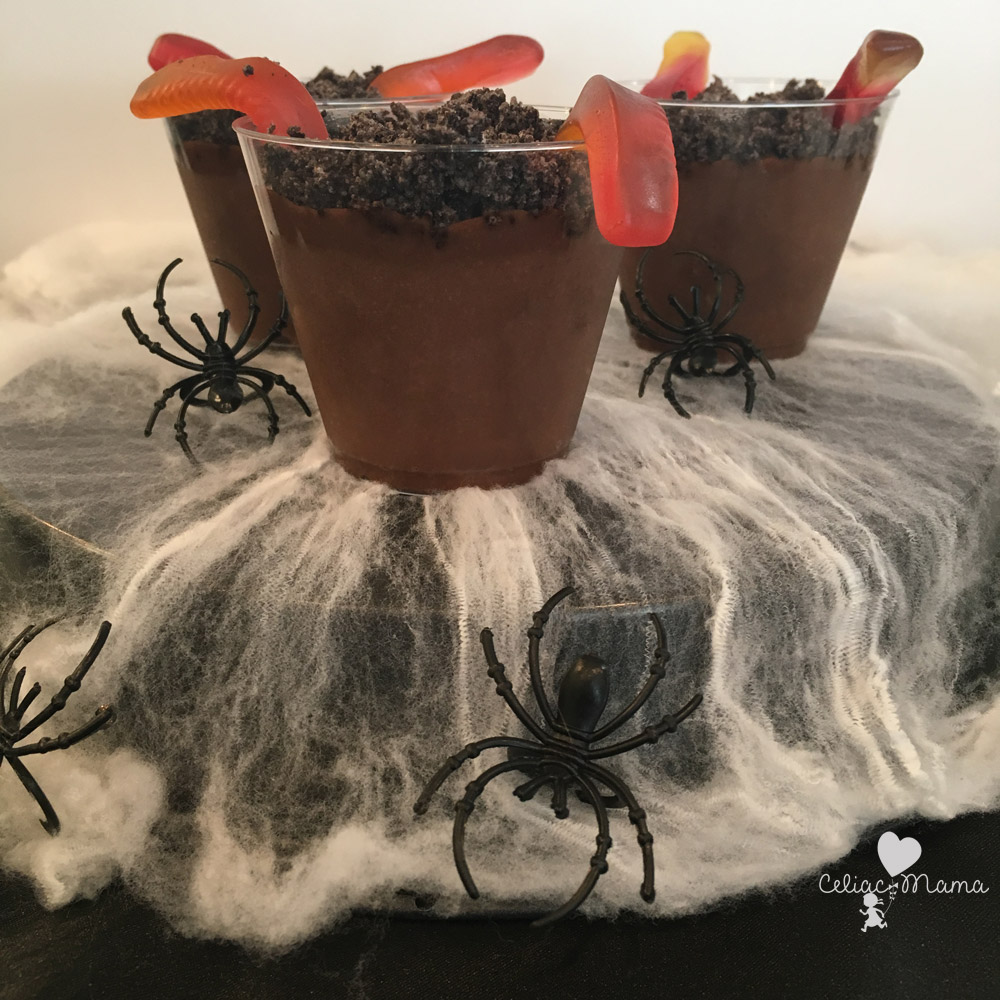 dairy free halloween dirt cups