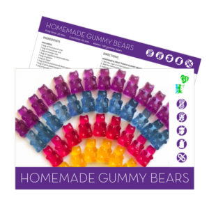 gluten free gummy bears recipe card