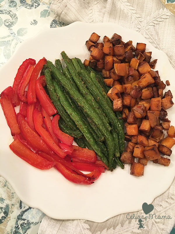 roasted rainbow vegetables