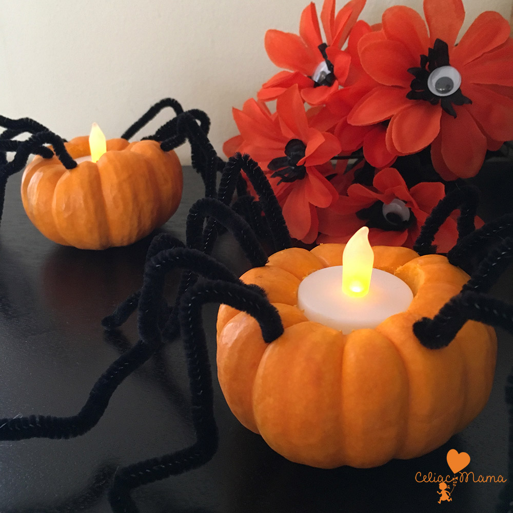 spider-pumpkin-candle-holders